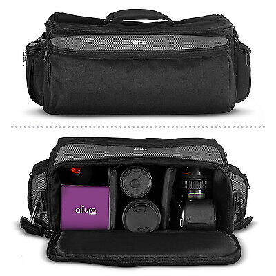 Travel Camera Bag with Strap for Canon DSLR EOS Rebel T5i T4i T3i T3 T2i T1i SL1