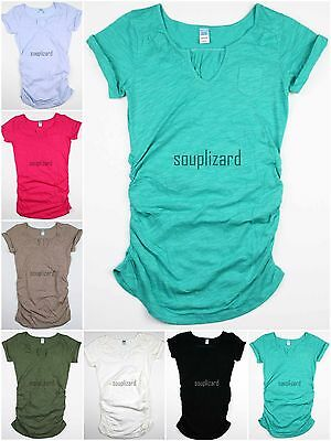 New OLD NAVY Womens Maternity Solid Shirt Tee Top T-Shirt NWOT Size sz XS S M L