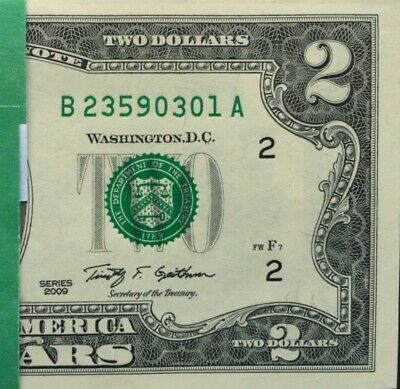 (1) $2 dollar bill ,consecutive ,Crisp,Gem ,Uncirculated