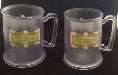 BUTTERBEER PLASTIC MUGS SET OF 2 HARRY POTTER WIZARDING WORLD UNIVERSAL ORLANDO