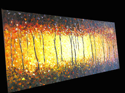 MADE TO ORDER HUGE 240cm ABORIGINAL ART BUSHFIRE OIL PAINTING MODERN  CANVAS