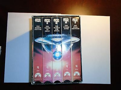Star Trek: The Movies - 25th Anniversary Collector's Set (VHS 1991) Orig Cast