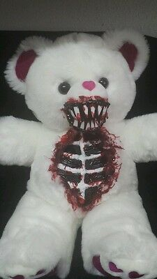 """Valentines Day Zombie Teddy Bear 20"""" Zombie Baby Halloween Haunted House Prop"""