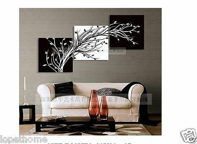 Modern Abstract Huge Wall Art Oil Painting On Canvas:black white TREE( No Frames
