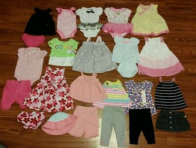 24 pc Girls Clothing Lot Size 6-9 Months Spring Summer Some New Coogi Gymboree