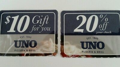 $10 Off $20 Food exp 4/19/15 Uno Pizzeria Grill Coupon 20% Off Save! Exp 5/31/15