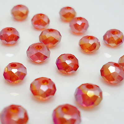 Free shipping 100pcs Swarovski Crystal #5040 4mm Rondelle Beads Y:10