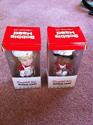 LOT OF 2 -CAMPBELL SOUP KIDS- BOBBLE HEADS - Limited Quanities - Collectibles