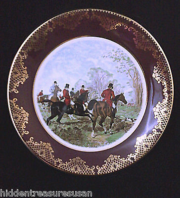 Weatherby Royal Falcon Gift Ware Fox Hunt Plate