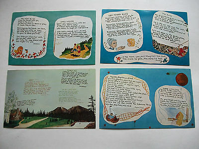 4  Different Poem Nook Call of the Wild Museum Gaylord Michigan Postcards