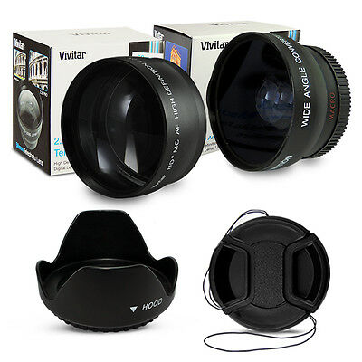 58MM Wide Angle Fisheye + Telephoto Lens for Canon EOS 700D 650D 600D 550D 450D