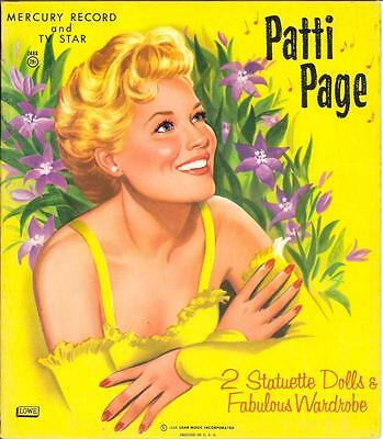 VINTAGE 1958 PATTI PAGE PAPER DOLLs ~Nice HD Laser REPRODUCTION~Orig. Size Uncut