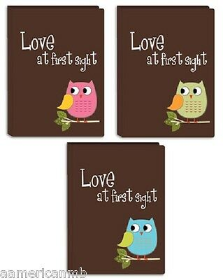 I-46B/O Baby Boys Girls Pioneer Photo Album 36 Pictures 4x6 Blue Green Pink Owl