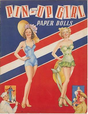VINTGE UNCUT 1943 Pin-Up PAPER DOLLS HD LASER REPRODUCTION~LO PR