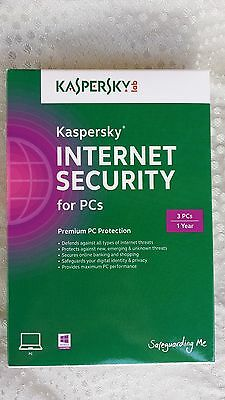 Kaspersky Internet Security 2014 - 3 PC  New Factory Sealed Retail Box