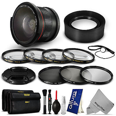 52MM Essential Lens & Filter Kit for Nikon D7100 D7000 D5200 D5100 D3200 D3100