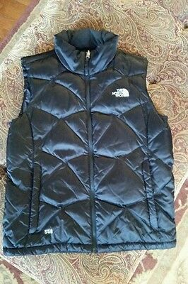 The North Face Womens Aconcagua Vest Black LG 550 Fill Excellent PRICE REDUCED
