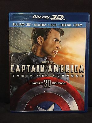 Captain America:The First Avenger (3D Blu-ray+Blu ray+DVD/Digital?,2011,3-Discs)
