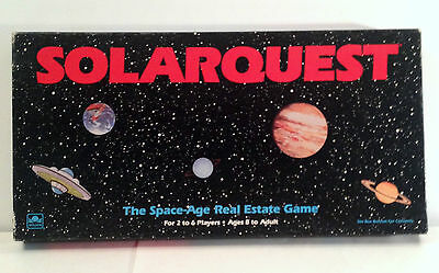 SOLARQUEST Board Game, 1986 Vintage, SPACE AGE Real Estate, Golden, COMPLETE