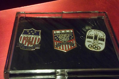 1996 3 PIN SET JC PENNY LIMITED EDITION USA OLYMPIC HOME TEAM CENTENNIAL COA
