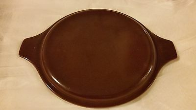 Pyrex Old Orchard solid dark brown LID ONLY fits casserole round w/ handles