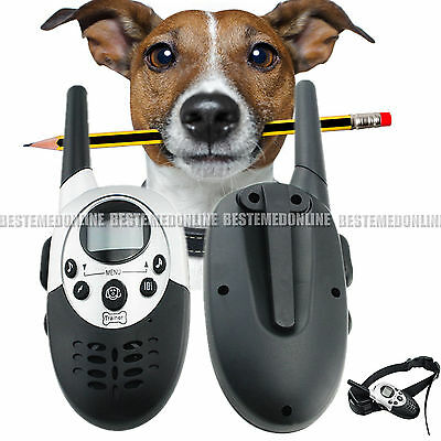 Waterproof Remote Rechargeable LCD Electric Shock Dog Training Collar 1000 Yard