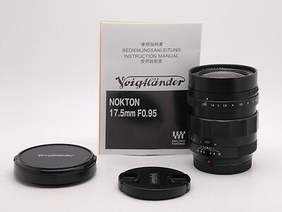 Voigtlander Nokton 17.5 mm F/0.95 Lens For Micro four thirds Micro 4/3