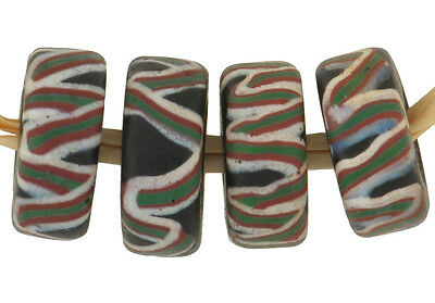 RARE OLD Fancy DISKS VENETIAN WOUND GLASS AFRICAN TRADE BEADS