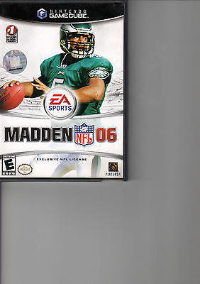 Madden NFL 06  (Nintendo GameCube, 2005) with case
