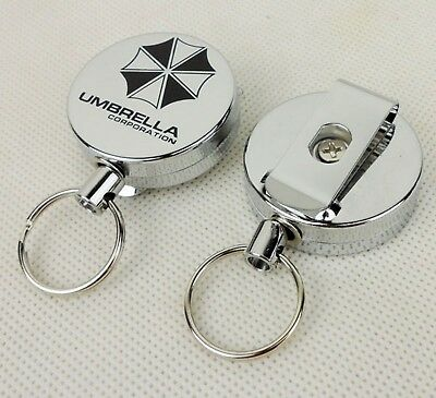 Resident Evil Umbrella Corporation Key Chain Metal Retractable Keychain-D823