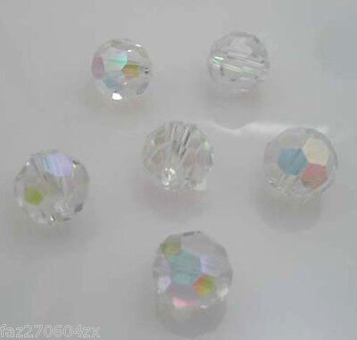 20pcs Crystal 8mm white AB Beads 5000 Round Pick loose beads H124
