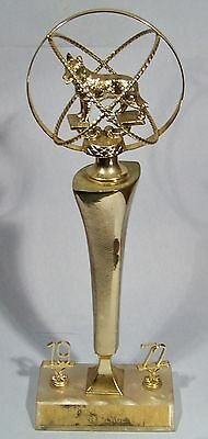 "SPACE AGE ""ATOMIC DOG"" VINTAGE TROPHY RETRO 1972 FIRST PLACE AWARD 18"" KITSCHY"