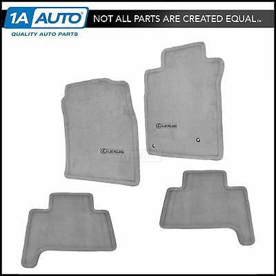 OEM FLOOR MAT Carpet Set of 4 LH RH Front & Rear Ebony for Lexus