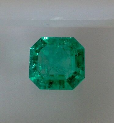 CERTIFIED 5.73Ttcw AAAA NATURAL LOOSE COLOMBIAN GREEN EMERALD 12.60mmx11.85mm