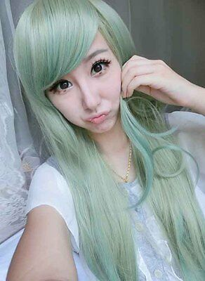 Wig Heat Resistant Cosplay Anime Long Curly Synthetic Wig Costume Hair Wig
