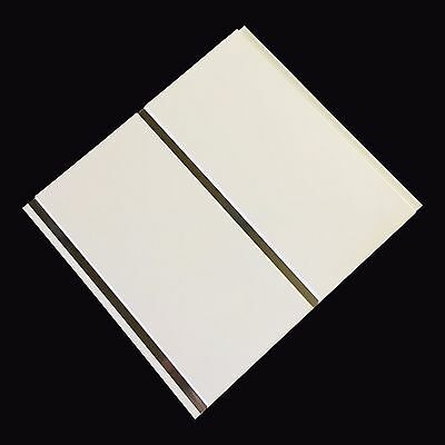 Gloss White With Chrome 8mm Ceiling Panels Cladding Bathroom Shower Wall Panels