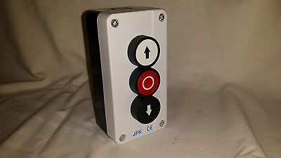 push Button Station up/down arrows + stop button, hoist, roller shutter door NEW