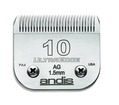 """Andis #10 UltraEdge Clipper Replacement Blade 1/16"""" 1.5 mm #64071 # 10 BRAND NEW"""