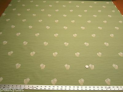 10 1/2 yards of conch shell patterned upholstery fabric r1572