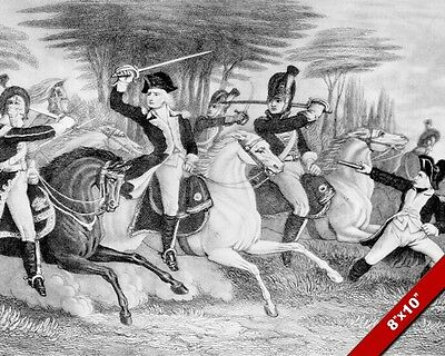 Battle Of Cowpens Engraving Painting American Revolutionary War Art Canvas Print