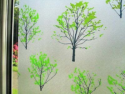 Frosted Static Window Film Stained Glass Decorative Vinyl Privacy Fablon Paper