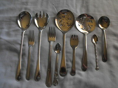 10pcs Silver Plated Flatware Mixed Lot