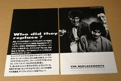 1989 The Replacements Don't Tell 2pg JAPAN album photo ad /mini poster advert 8r
