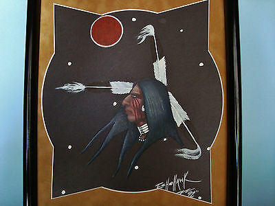 Mixed Media - Gouache/Tempura on Paper - Signed Echohawk -  Native American Art