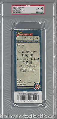Pearl Jam Wrigley Field Concert Full Ticket July 19 2013 Psa #22034436