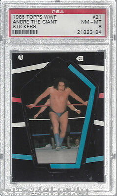 1985 Topps Wwf Andre The Giant Stickers Card #21  Psa 8 Nm-Mt #21823184