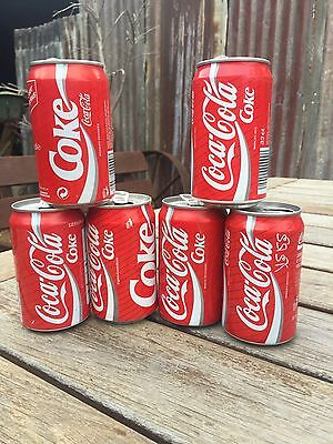 6 X Collectable International 330Ml Coca-Cola Cans Coke Cans