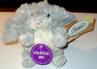 """NEW BESTEVER 4"""" MINI BABY BUNNY RABBIT Squeeze for boing sound Easter Toy B02"""