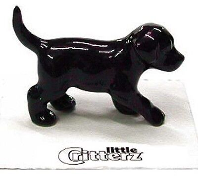 ➸ LITTLE CRITTERZ Dog Miniature Figurine Labrador Retriever Lab Black Shadow