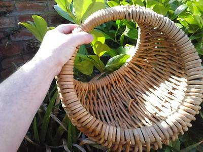 Unusual shaped sturdy woven basket for fruit garden produce flowers shopping etc